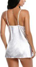 Satin Lingerie Sexy Sleepwear for Women Lace Babydoll S-XXL image 3