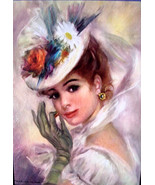 French Parisian Lady Vintage  Paris Apartment Print - $4.99
