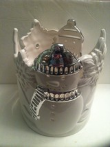Bath Body Works Slatkin 3-wick Ceramic Snowman Luminary 14.5 oz Candle H... - $84.99