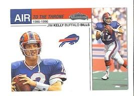 Jim KELLY 2002 Fleer Showcase AIR TO THE THRONE Insert Card Buffalo BILLS - $2.99