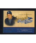 Steve SCHIRRIPA 2004 Studio FANS OF THE GAME Insert Card The SOPRANOS NY... - $2.99