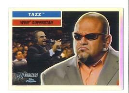TAZ TAZZ 2006 Topps Heritage Chrome WWE Wrestling  REFRACTOR PARALLEL Ca... - $1.99