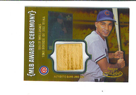 Billy WILLIAMS 2002 Topps Gold Label MLB Awards Ceremony Game Used BAT Card Gold - $19.99