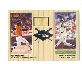 Joe Morgan 2002 Greats Of The Game Dueling Duos Game Used Bat Card Dd Jm1 Giants - $19.99