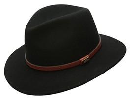 NEW Conner CRUSHABLE Rain Proof WOOL SAFARI Fedora Western Hat Black C1021 - $1.203,87 MXN