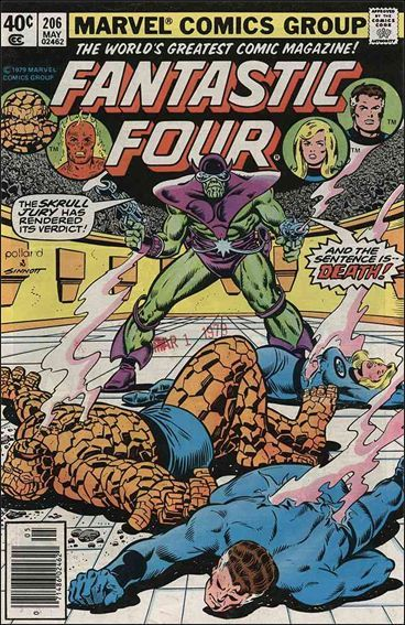 Marvel FANTASTIC FOUR (1961 Series) #206 FN/VF