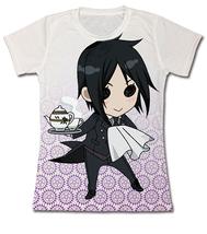 Black Butler SD Sebastian Tea Time JRS T-Shirt GE59667 *NEW* - $26.99