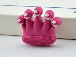 Crown Knobs Kids Dresser Knobs Childrens Drawer Knobs Girls Knobs Pink - $6.50