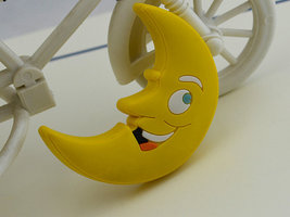 Kids Dresser Knobs Drawer Knobs Pulls Moon Yellow / Children Cartoon Knobs  - $6.50