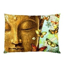 BUTTERFLY BUDDHA Pillow Case (One Side) Home De... - $19.95