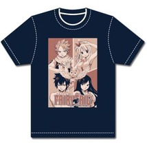 Fairy Tail Four Square Adult T-Shirt GE6229 *NEW* - $23.99