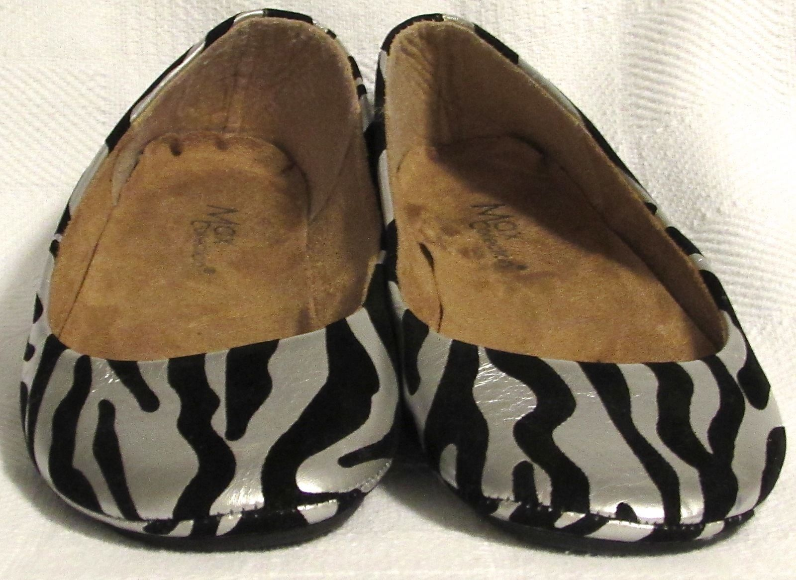 Max Collection Animal Print Multi-Color (Silver/Black) Ballet Flats Size: 8.5 M