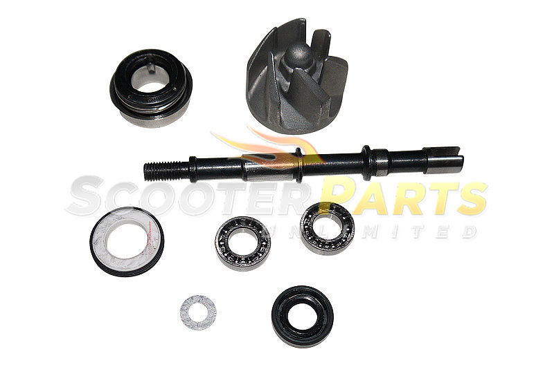 Water pump assembly engine motor part 250cc scooter mopeds for Water pump motor parts
