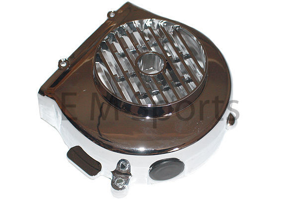 Atv Quad Go Kart Buggie Engine Motor Cooling Chrome Fan Cover 50cc Parts QMB139