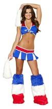 Roma Charming USA Cheerleader Halloween Costume W/WO LEG WARMERS S/M M/L... - $65.00+