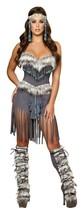 Roma Indian Hottie Corset Shorts Halloween Costume W/WO LEG WARMERS S M ... - $86.00+