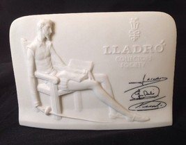 Lladro Collectors Society Display Sign Advertising Signed Bisque Plaque ... - £23.10 GBP