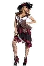 Sexy 3PC Hot Hooligan Pirate Wench Adult Halloween Costume W/WO HAT HOSE... - $62.99+