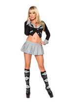 Sexy Roma 3PC Naughty School Girl Halloween Costume W/WO ARGYLE SOCKS S ... - $79.00+