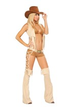 Sexy Roma 5PC Easy Rider Cowgirl Wild West Adult Halloween Costume S/M M... - $95.00