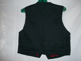 Women's  Size M Woolrich Black & Red Zipped Up VEST   image 2