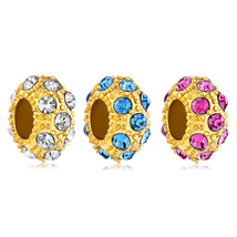 Pugster Birthstone Charms Yellow Ball April Bithstone European Beads Bir... - $8.49