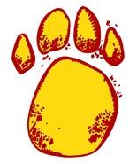 Yellow Paw-Digital Download-ClipArt-ArtClip-Digital Art     - $4.00