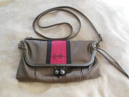 Jessica Simpson Cross Body Handbag Grey/Pink - $24.74