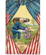 Remembering His Buddies Vintage Memorial Day Post Card  - $8.00