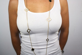 9 Hand crafted White, Black, Onyx mother of pearl Alhambra Mot - $125.00