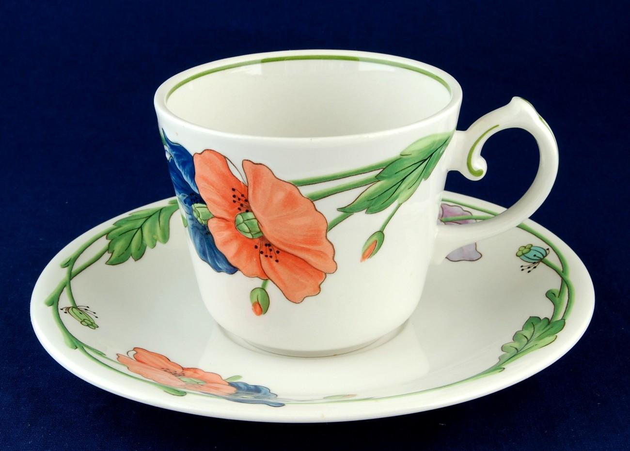Villeroy boch amapola breakfast cup saucer set - Villeroy and bosh ...