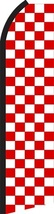 Red and White Checker Standard Size Economic Swooper Flag Sign (11x5x2.5 feet)  - $15.99