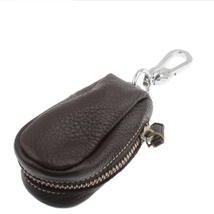 Genuine Leather car Key Bag with Stainless Stee... - $13.89