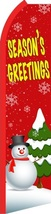 Seasons Greetings Standard Size Economic Swooper Flag Sign (11x5x2.5 feet)  - $15.99