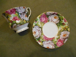 Porcelain Treasures Hand Decorated Betty Platner Cup Saucer Floral - $9.99