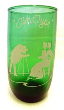 Forest Green Drinking Glass White Enamel Tin Ty... - $39.17