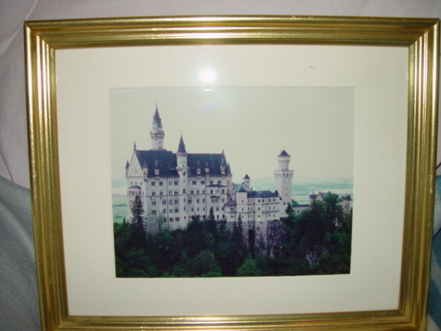 Unmark  Mannison Wall Art Picture In Gold Frame