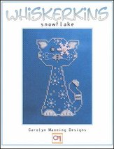 Snowflake Whiskerins cat cross stitch chart CM Designs - $7.65