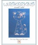 Snowflake Whiskerins cat cross stitch chart CM Designs - $7.65
