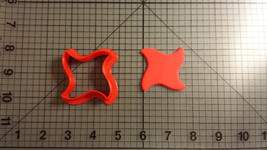 4 Point Curved Ninja Star Cookie Cutter - $6.00