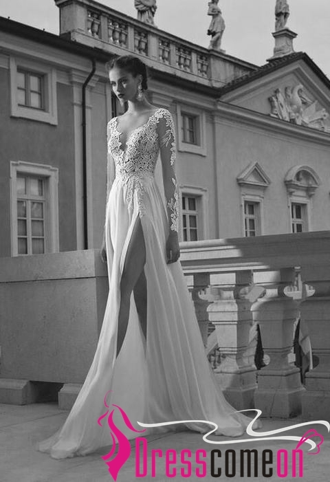 Vintage Wedding Dress,White Wedding Dress,New Wedding Gown,Long Sleeve Lace Gown for sale  USA