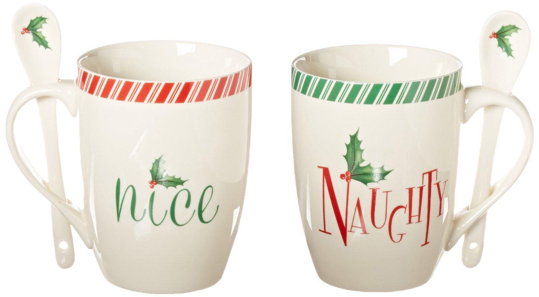 nice mug sets christmas lenox holiday naughty nice 2piece mug set by 3499 set listing