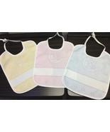 Zweigart's Playtime Bears Bib - 100% cotton 14 count Cross Stitch Pink Y... - $4.75