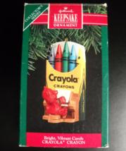 Hallmark Keepsake Christmas Ornament 1991 Bright Vibrant Carols Crayola ... - $7.99