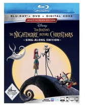 Nightmare Before Christmas Sing Along Disney Blu-ray + DVD + Digital Cod... - $17.65