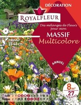 Royalfleur PFRE08354 Graines de Mélange de Fleurs mon Massif Multicolore... - $59.91