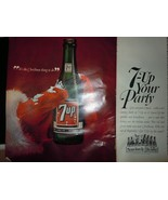 7-UP Your Party Merry Christmas Print Magazine Advertisement 1964 - $6.99
