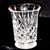 Cut Glass Vase with Detailed Design AA18-11801 Vintage Heavy image 2