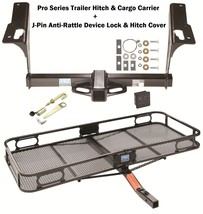 Trailer Tow Hitch + Cargo Carrier + Silent Hitch Pin Fits 2010-17 Subaru Legacy - $375.73