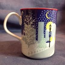 Designed by Noritake Cityspace Christmas Holiday Mug Snow Santa Claus Mu... - $29.21